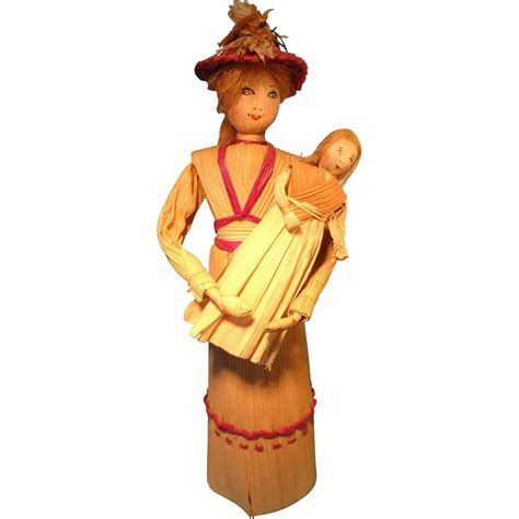 baby corn husk doll corn husk doll holding baby by may deschs from