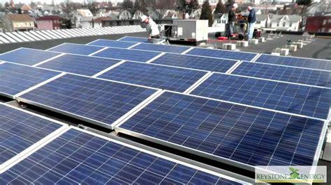 Solar Rack by Ballasted Solar Racking Install
