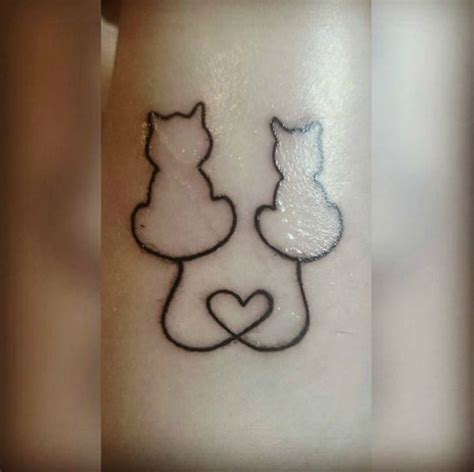 cat tattoo buzzfeed 2 cat silhouette tattoo google search tattoo