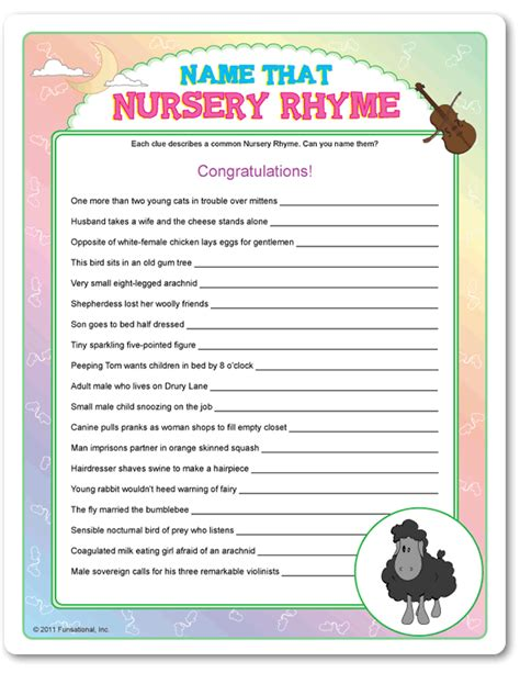Name That Baby Shower Answers by Baby Shower Nursery Rhymes Www Pixshark