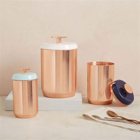 copper canisters kitchen copper kitchen canisters west elm
