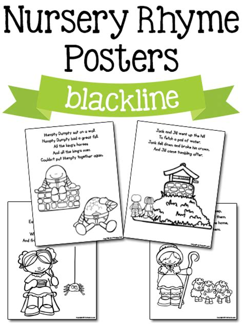 printable free nursery rhymes nursery rhyme printables prekinders