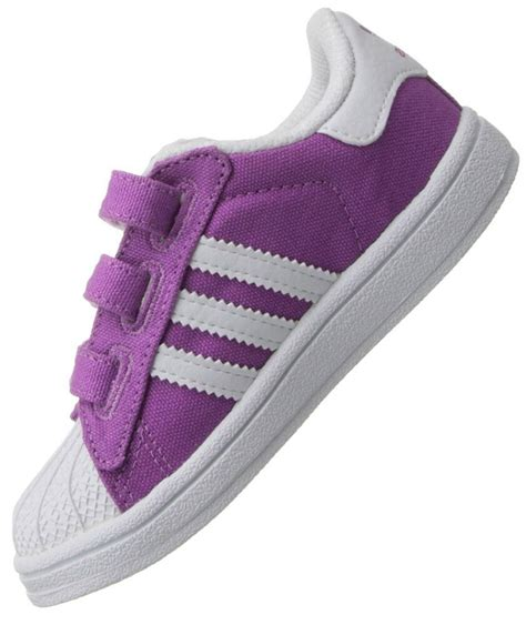 adidas originals superstar 2 cf baby shoes sneakers purple white size 19 ebay