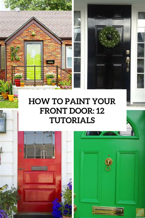 how to paint front door how to paint a front door archives shelterness