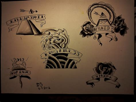 tattoo flash sheet original by dopehat569 on deviantart