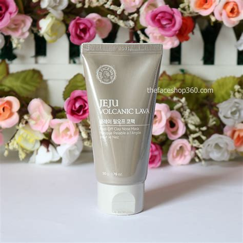Harga The Shop Jeju Volcanic Lava Peel Clay Nose Mask gel lột mụn jeju volcanic lava peel clay nose mask
