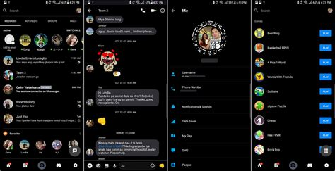 facebook themes in android theme clear dark facebook and messenger android