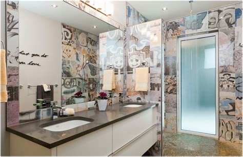 graffiti bathroom tiles bansky tile portland direct tile marble