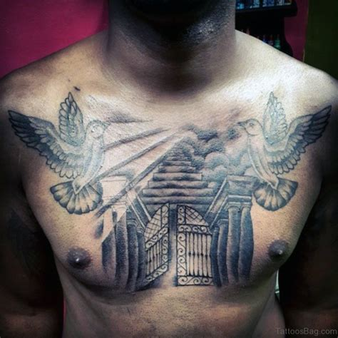 chest tattoos clouds doves www pixshark com images