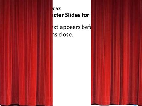Slide Door Curtains Crystalgraphics 3d Character Slides For Powerpoint Closing