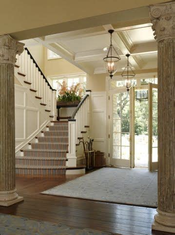 beautiful entryways entry with columns from rebecca bradley entry decorating