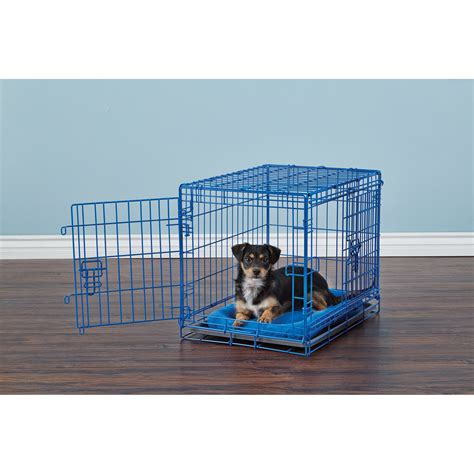puppy crates petco you me 2 door crate blue petco