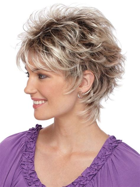 gray shag haircuts capless wavy gray short synthetic hair wig gray hair wigs