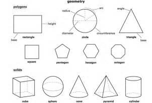 Geometrik ekillerin ngilizce resimli simleri
