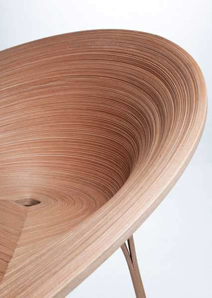 Traditional Japanese Chair by Original Wood Dining Chair Highlighting Japanese Veneer Technique