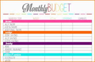 Budget Calendar Planner 8 Budget Planner Worksheet Monthly Bills Template