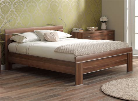 how to make a wood bed frame berkeley bed frame walnut