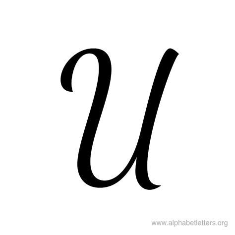 Letter U printable cursive letter alphabets alphabet