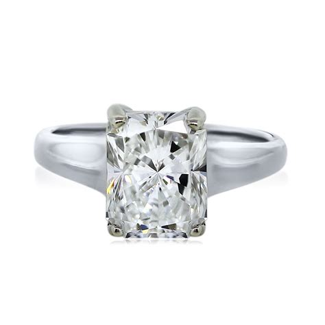 which engagement ring white gold certified 2 00ct radiant cut