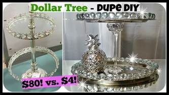 Home Decor Craft Ideas Dollar Tree Diy Home Decor Dupe 2 Tiered Tray Stand Glam