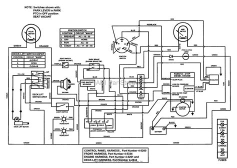 lawn tractor ignition switch wiring diagram basic lawn