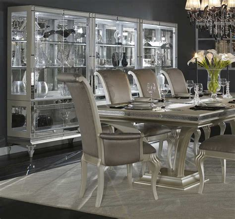 silver dining table modern and classical silver dining room sets