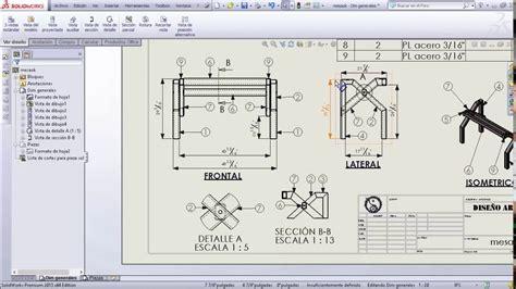 tutorial de solidworks pdf tutorial mesa solidworks 2da parte planos vista