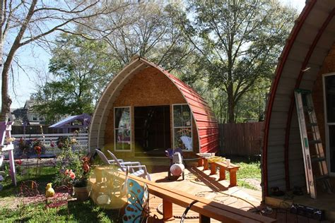 arched tiny house arched cabins tiny house
