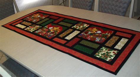 free pattern quilted table runner christmas table runner stained glass by pam yeomans