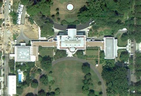 satellite view of house residence white house museum