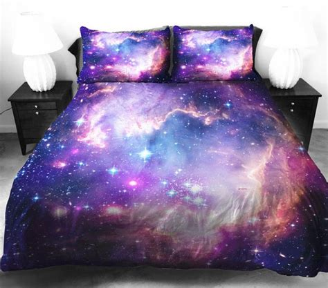 space bed sheets galaxy bedding duvet and pillow cases