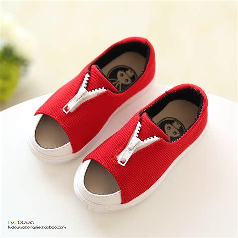 Sepatu Bayi Murah Striped Striped Canvas Baby Shoes Prewalker Shoe b d newest fashion children sneakers summer