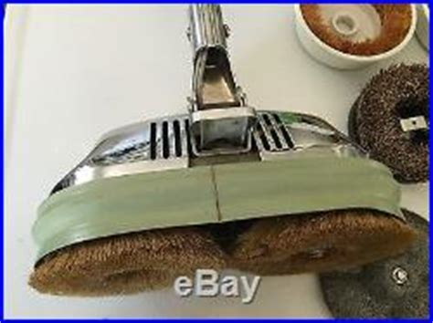 Vintage Chrome General Electric GE Floor Buffer Scrubber