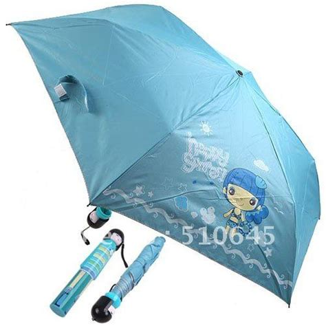 blue pattern patio umbrella light blue pattern painting folding rain umbrella for kids