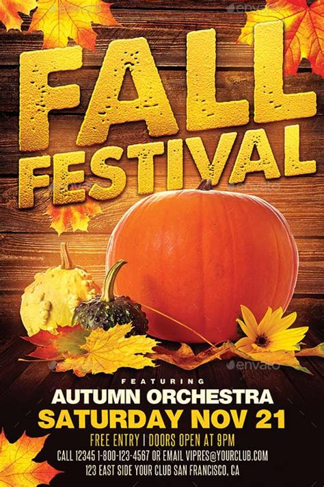fall flyer template top 25 autumn flyer templates collection for