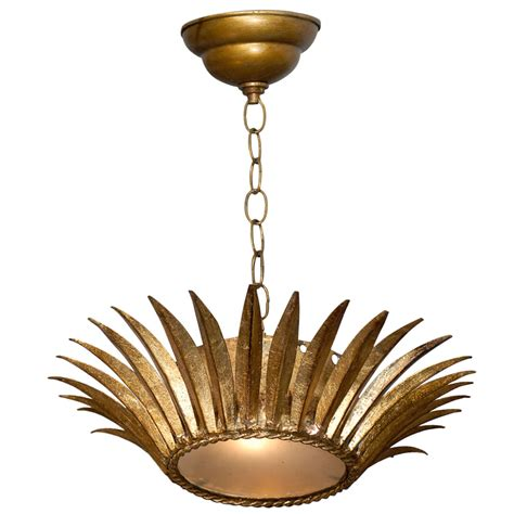 Metal Light Fixture Gilt Metal Light Fixture At 1stdibs