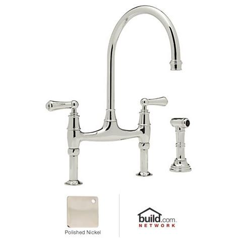 Bridge Style Kitchen Faucet Rohl U 4719l Pn 2 Perrin And Rowe Bridge Style Kitchen Faucet With Sidespray Polished Nickel