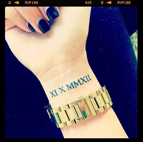 roman numeral birthday tattoos numeral put a special date in numerals