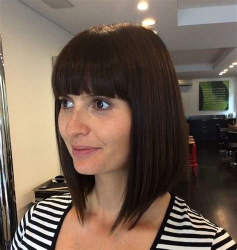 40 ?harming Short Fringe Hairstyles for Any Taste and Occasion   Straight bangs, Long bob and Bangs