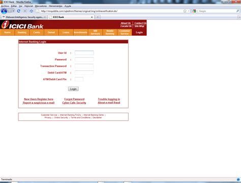 icici bank login malware intelligence 2010 04 a division of