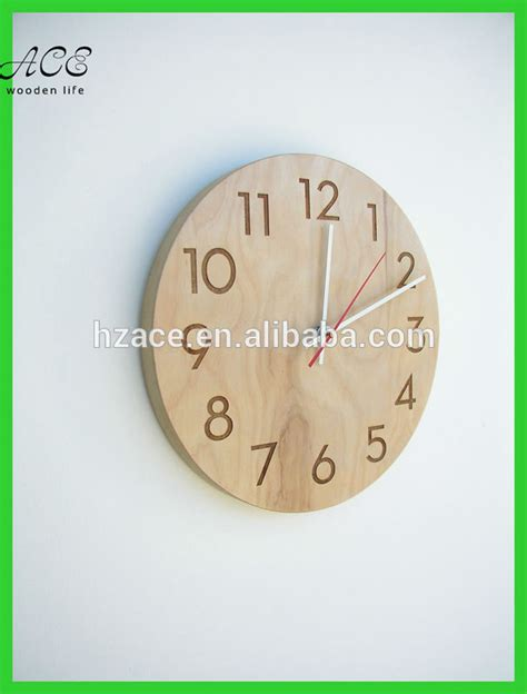 modern wood wall clock home decorative wood wall clock