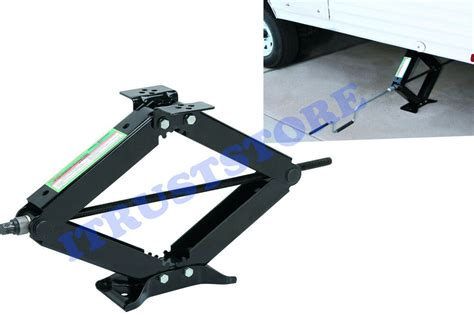 stabilizer scissor lift jack  lb capacity leveling rv travel trailer vehicle ebay