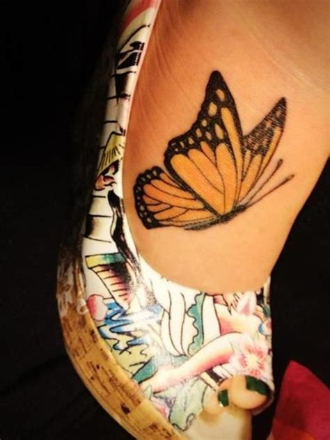 45 Terrific Exles Of Beautiful Butterfly Tattoo Butterfly Tattoos Designs On Foot