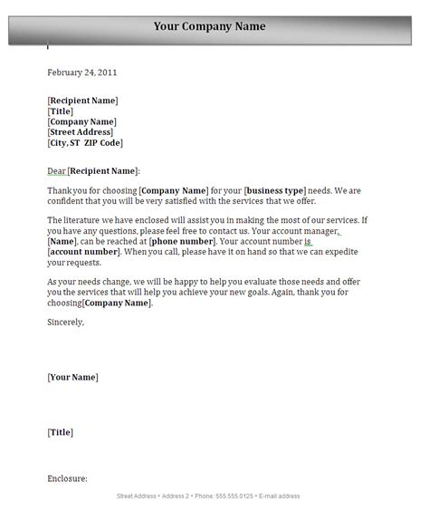 Business Letter Format Heading cover letter with a header