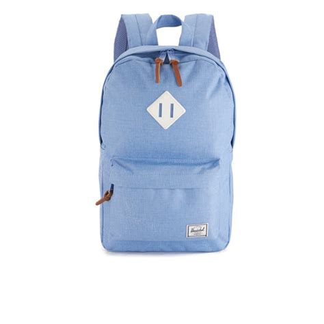 Original Herschel Classic Backpack Chambray herschel supply co s heritage mid volume backpack chambray crosshatch white rubber