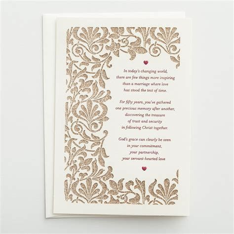 wedding anniversary card and in 50th anniversary few things more inspiring 1 premium