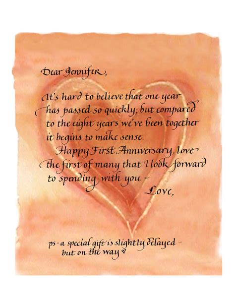 Gift Letter To Husband Poem Anniversary Gift Beautiful Calligraphy Custom Calligraphy Services