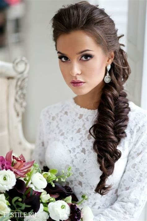Side Swept Wedding Hairstyles by 40 Gorgeous Side Swept Wedding Hairstyles Happywedd