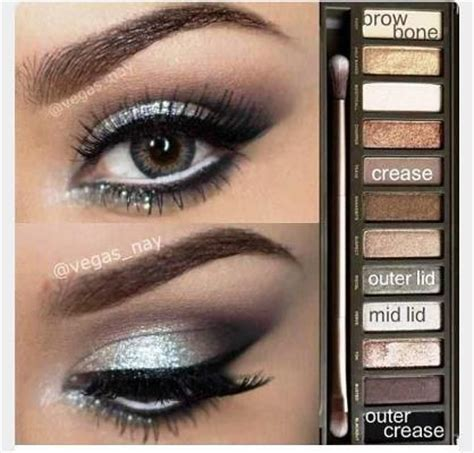 Make Eyeshadow Pallete And Smokey silver smokey eye 2 palette amazingmakeups