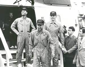 apollo 13 astronauts on the u s s iwo jima national air